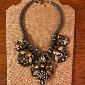 J Crew crystal cluster necklace